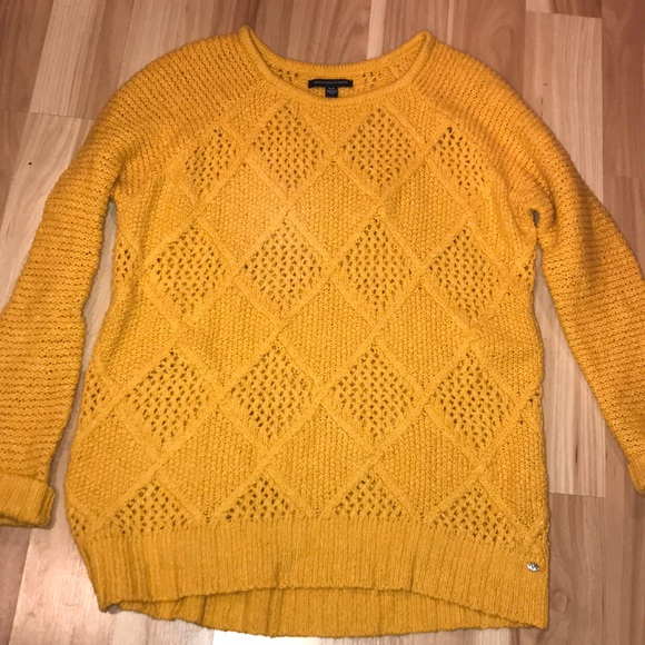 American Eagle Outfitters Sweaters American Eagle Mustard Yellow